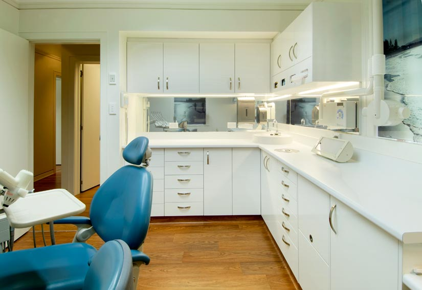 Dental Wellness storage cupboards by McKibbin Design