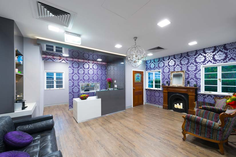 Dr Stolz dental reception fitout by McKibbin Design