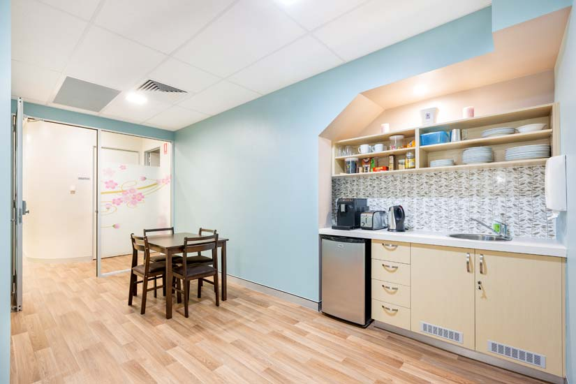 McKibbin Design Nurture Family Allied Health & Early Parenting Centre kitchen