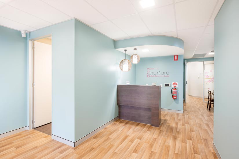 McKibbin Design Nurture Family Allied Health & Early Parenting Centre entrance fitout