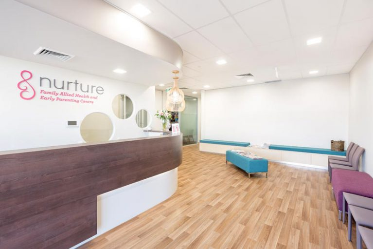 McKibbin Design Nurture Family Allied Health & Early Parenting Centre reception fitout