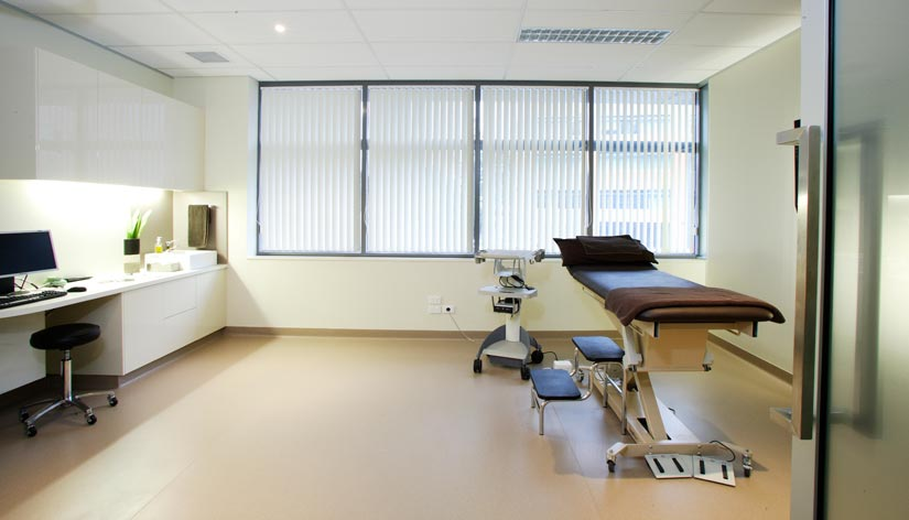 McKibbin Design The Varicose Vein Clinic treatment room fitout