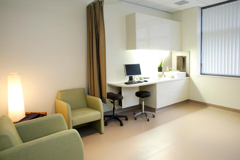 McKibbin Design The Varicose Vein Clinic treatment and waiting area