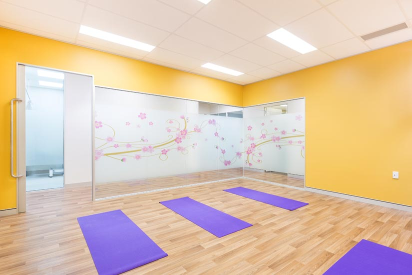 McKibbin Design Nurture Family Allied Health & Early Parenting Centre yoga room fitout