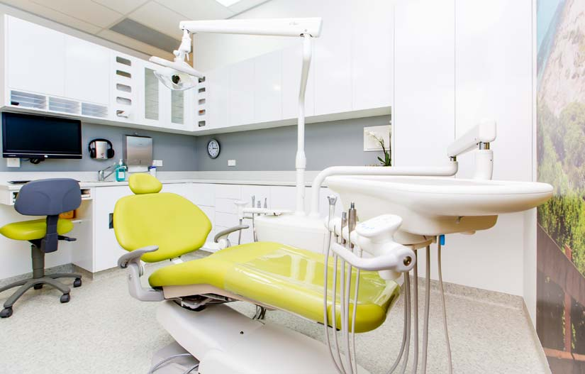 McKibbin Design Dental Care Xtra dentist chair and storage