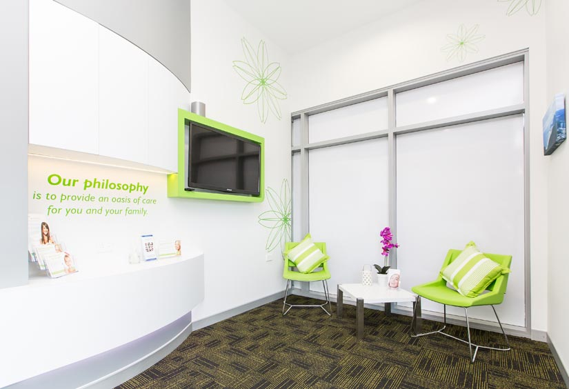 McKibbin Design Dental Care Xtra waiting area