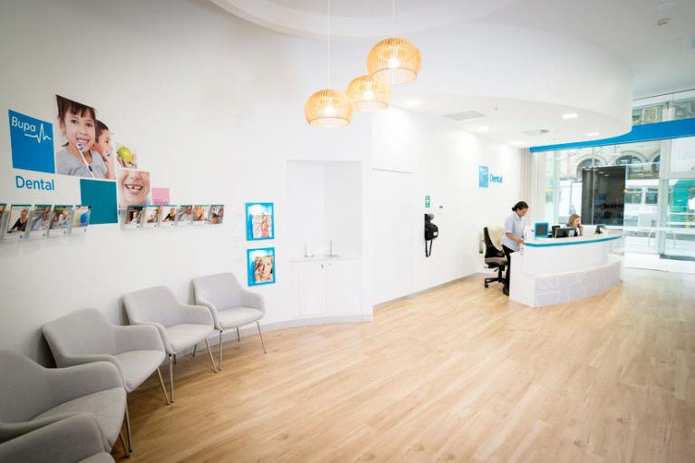 Bupa McKibbin Design reception fitout