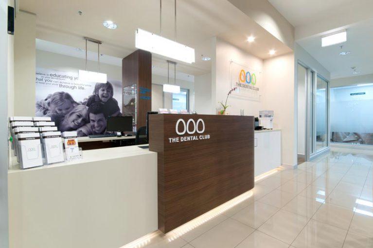 The Dental Club McKibbin Design reception fitout