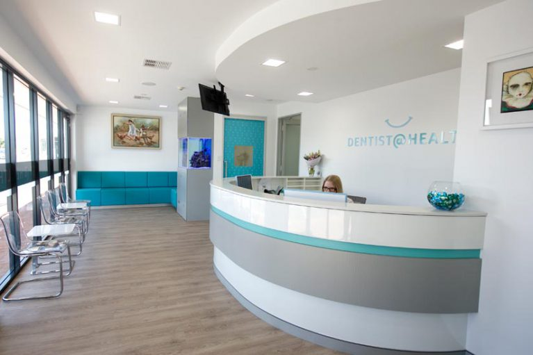 Dentist @ Health dental reception fitout by McKibbin Design