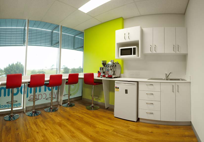 McKibbin Design Northpoint Eye Care kitchen