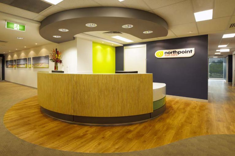 McKibbin Design Northpoint Eye Care fitout reception