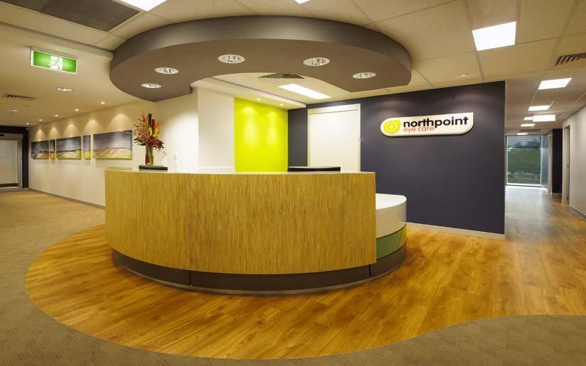McKibbin Design Northpoint Eye Care fitout reception