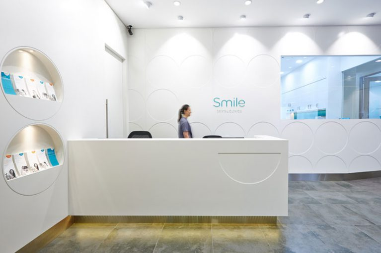McKibbin Design Smile Dental Clinic fitout reception