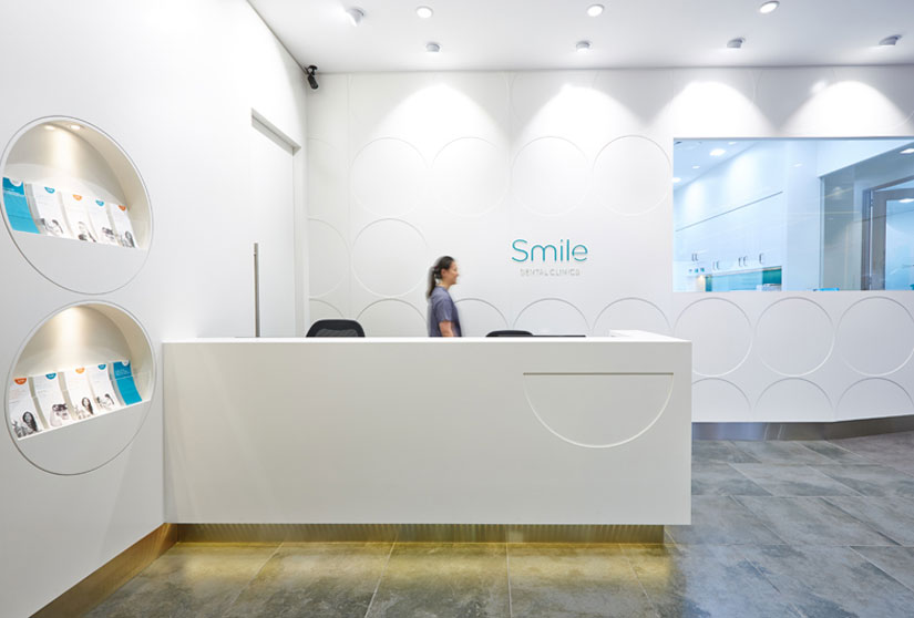 McKibbin Design Smile Dental Clinic fitout reception