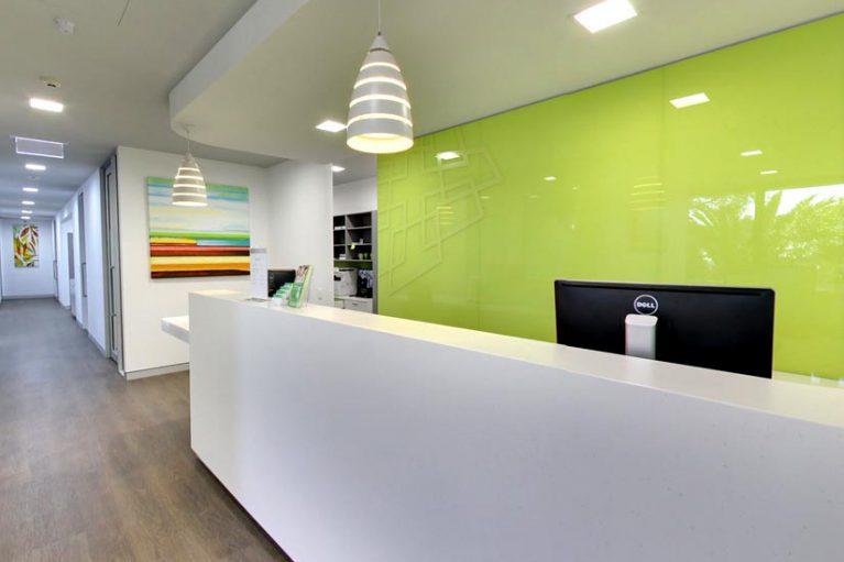 Vale Dental Practice reception by McKibbin Design