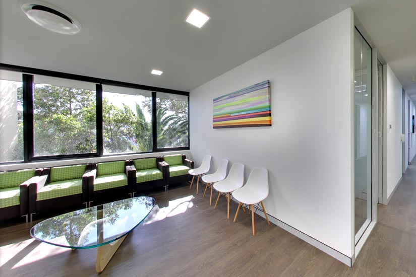 Vale Dental Practice waiting room by McKibbin Design