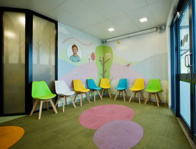 Reception waiting room